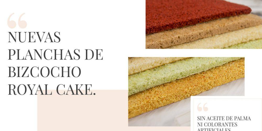 Nuevas planchas de bizcocho Royal cake