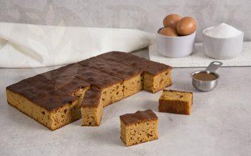 Pre-cut Toffee sponge cake