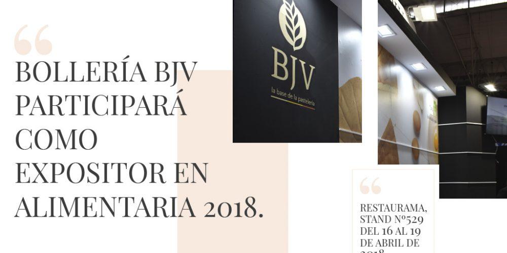 BJV será expositor en Alimentaria 2018