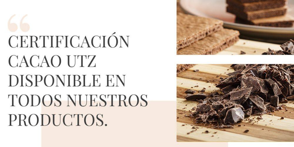 Certificación UTZ disponible para todos nuestros productos con cacao