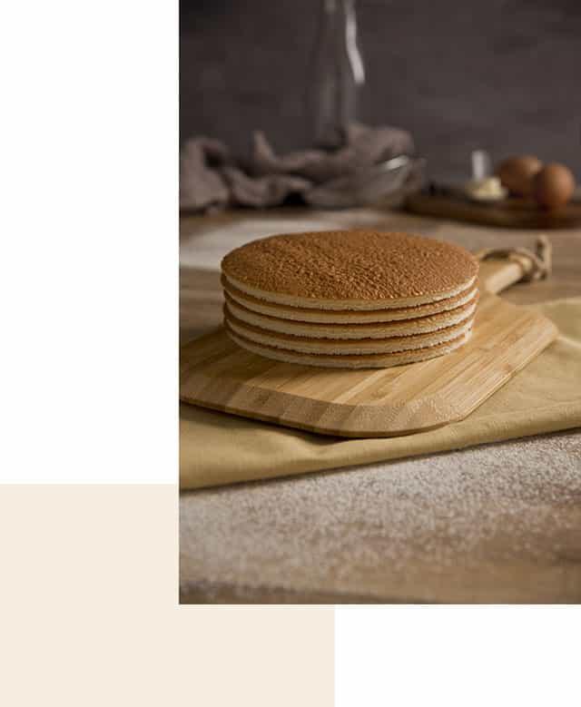 bases de bizcocho discos para tarta