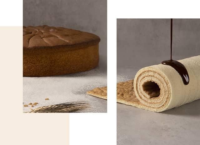 Bizcocho y base de bizcocho para tartas